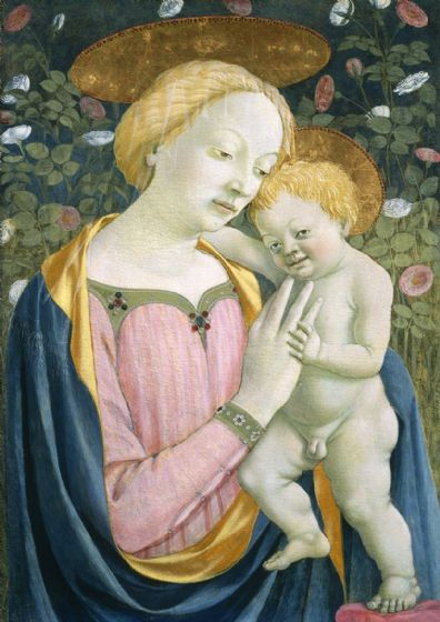 Veneziano, Domenico: Madonna and Child. Fine Art Print/Poster. Sizes: A4/A3/A2/A1 (004178)